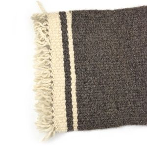 Gray Fringe Placemat